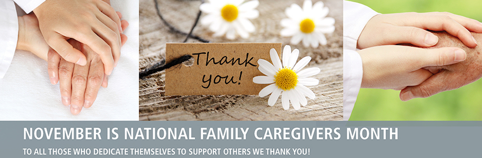 NOVEMBER IS NATIONAL FAMILY CAREGIVERS AND ALZHEIMERS DISEASE AWARENESS MONTH