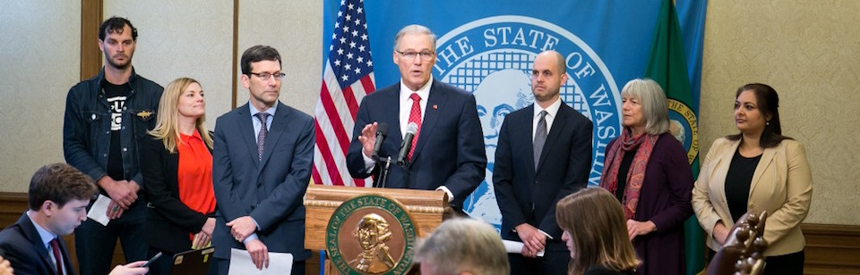 Washington Gov. Jay Inslee promises state action on net-neutrality protections